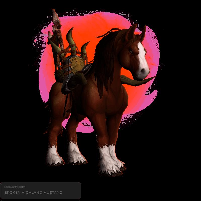 Broken Highland Mustang