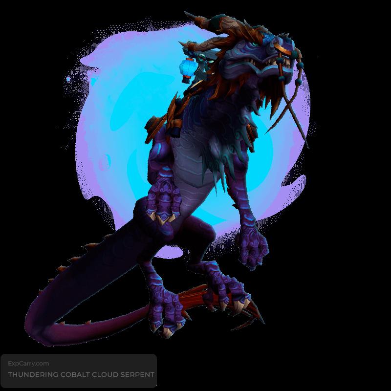 Thundering Cobalt Cloud Serpent